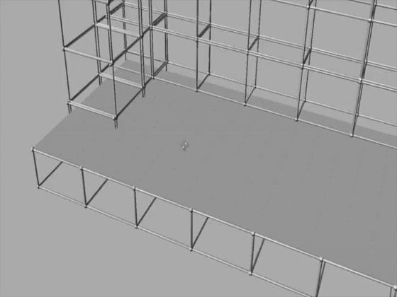 AMR Recchia, Scenografie a forma di piramidi in Polistirolo espanso, lavorazione, taglio, prototipi in polistirolo.